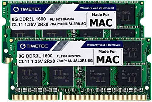 Timetec Hynix IC 16GB Kit (2x8GB) DDR3 1600MHz PC3-12800 SODIMM Memory compatibile con Mac (16GB Kit (2x8GB))