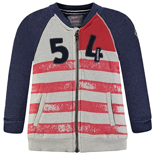 Kanz® Jungen Sweatjacke 'Baseball 54', Präzise Farbe:Blau, Größe:140
