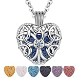 CELESTIA Essential Oil Diffuser Necklace for Women Heart Aromatherapy Locket...