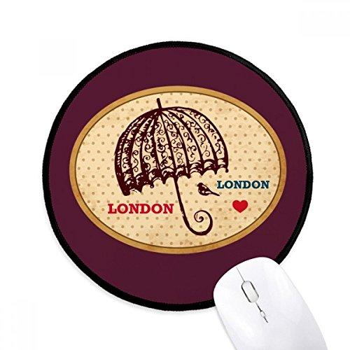 Britse Londen paraplu stempel Britse ronde anti-slip muisgaten zwart gestikte randen Game Office Gift
