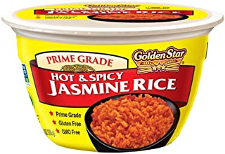 Golden Star Hot and Spicy Jasmine Microwavable Rice Bowls, Six Pack