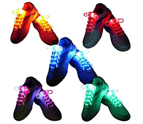 BestTrendy 5 pares de cordones LED luminosos con luz LED, cordones luminosos para hip-hop Claire Small Party Disco Dance Impermeable