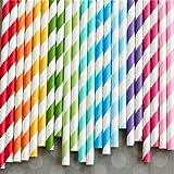 Paper straw 6mm-100pcs