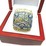 TYTY 2015 Rugby Super Bowl Denver Broncos Championship Ring, Bague de Collection commémorative des Fans,with Box,9#