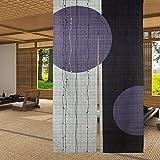 LIGICKY Cortina de Puerta noren Japonesa Tipo Largo círculo patrón Impreso...