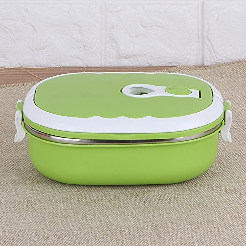 1/2 Layer Rectangle Thermal for Food Stainless Steel Lunch Container Lunch Box Food Storage...