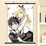 JIAJIAFU Kishuku Gakkou No Juliet Sexy Dibujos Animados Anime Cartel Rollo De Pared Lienzo Pintura Decorativa 40 X 60 CM P