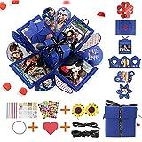 Gohytal Explosion Box de fotos creativas para manualidades, sorpresa, caja de presentación de fotos hecha a mano, regalo para padre creativo caja regalo álbum de bricolaje para cumpleaños