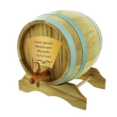 Unbekannt Das Eichen-Holzfass 3 L inkl. Personalisierung als schönes Bier- oder Whisky-Liebhaber