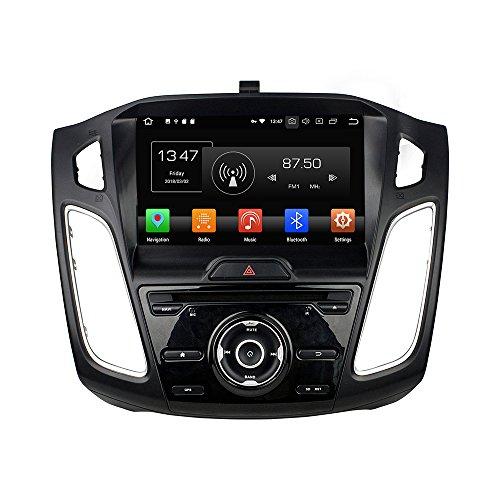 KUNFINE Android 10 Ocho nucleos Ram 4G ROM de 32 GB Autorradio GPS Navegación DVD Reproductor Multimedia Control del Volante Unidad Principal Estéreo porFORD Focus 2015-2018