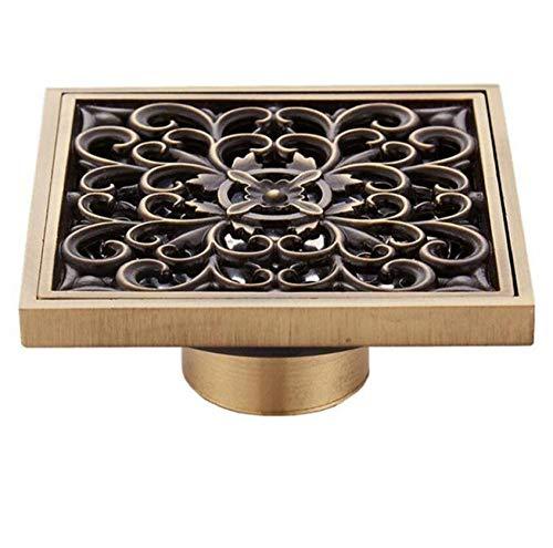 Rmbearmoni afvoer sifon van koper voor keuken en badkamer, balkon, dubbele sifon bodemsifon deodorant en bestand tegen insecten