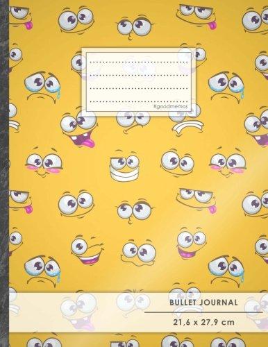 """Bullet Journal • A4-Format, 100+ Seiten, Soft Cover, Register, """"Emoji Bilder"""" • Original #GoodMemos Dot Grid Notebook • Perfekt als Tagebuch, Zeichenbuch, Kalligraphie Buch"""