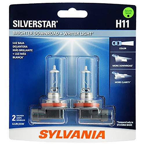 SYLVANIA H11 SilverStar High Performance Halogen Headlight Bulb, (Contains 2 Bulbs)