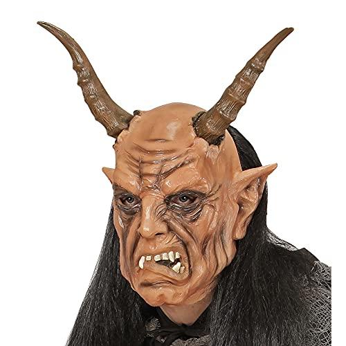 Widmann Maschera Diavolo con Parrucca per Adulti, Taglia Unica, VD-WDM02119