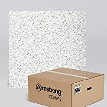 Armstrong Ceiling Tiles; 2x2 Ceiling Tiles - Acoustic Ceilings for Suspended Ceiling Grid; Drop Ceiling Tiles Direct from the Manufacturer; CORTEGA Item 770 – 16 pcs White Lay-in