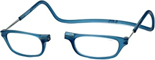 Clic Magnetic Reading Glasses in Frosted-Blue Jeans +2.50