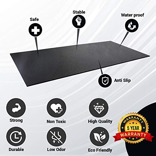 Rubber King All-Purpose Fitness Mats - A Premium Durable Low Odor Exercise Mat With Multipurpose Functionality Indoor/Outdoor (4' x 6', 7mm)