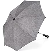 Zamboo Parasol Umbrella for Pram, Stroller, Pushchair and Buggy / Universal Infant and Baby UV Sun Protection Umbrella - Grey