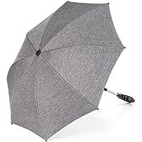 Zamboo - Sombrilla universal Carrito de bebé - Silla de paseo - Parasol flexible con soporte para tubos redondos y ovalados / Protección UV50+, 73 cm diámetro, color gris