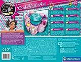 Clementoni Cool Nails Crazy Chic-L atelier, Machine à manucure-Jouet Fille, kit de Loisir créatif fill 6 Ans, décorations, Vernis à Ongles, 18599, Multicolore