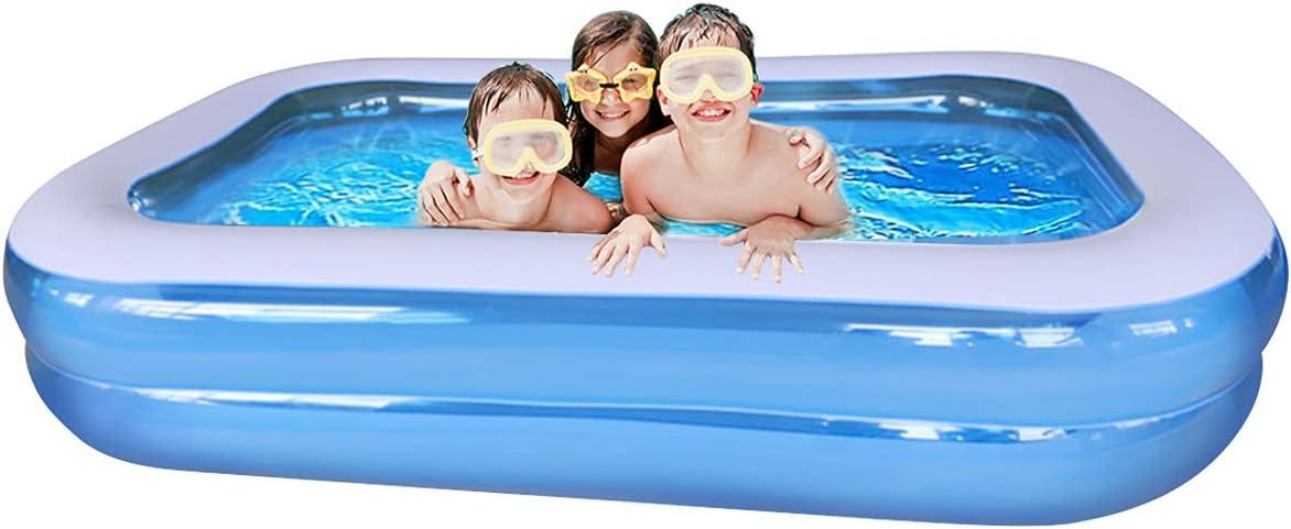 Piscina Hinchable Infantil, Piscina Hinchable Rectangular Grande Verano Juego de Agua 103