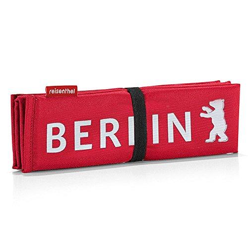 Reisenthel Seatpad Berlin - Sitzkissen, Stuhlkissen, Kissen - rot mit Berliner Bären und Berlin-Schriftzug