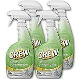 Diversey - CBD540199 Crew Bathroom Disinfectant Cleaner - Leaves Bathroom Surfaces Sparkling Clean, Fresh Floral Scent - 32 oz. RTU Bottle (4 Pack)