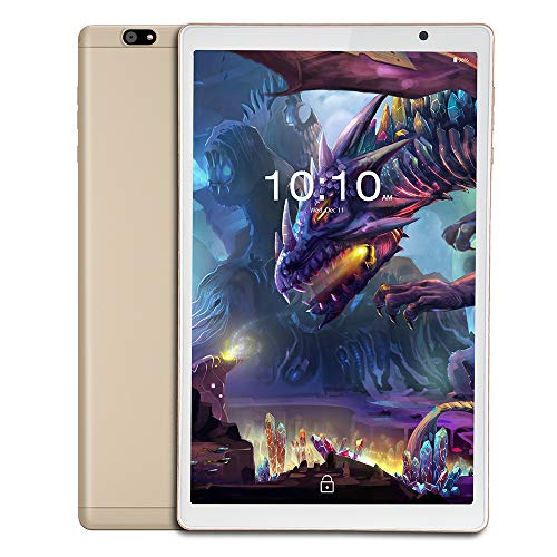 (Renewed) iBall iTAB MovieZ Tablet (10.1 inch, 32GB, Wi-Fi + 4G LTE + Voice Calling   Expandable Memory Up to 256GB), Champagne Gold