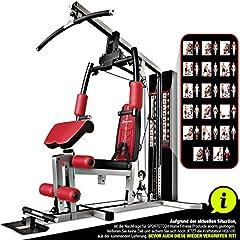 Sportstech Unique Premium multi-gym HGX100/HGX200 för otaliga träningsvarianter Multifunktionellt hemgymp med stepper, fitnessstation tillverkad av Eva material för hem- Robust konstruktion