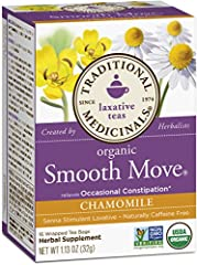 Relieves occasional constipation generally within 6-12 hours.* Non-GMO verified. All Ingredients Certified Organic. Kosher. Caffeine Free. Consistently high quality herbs from ethical trading partnerships. Taste: Fresh and floral with sweet notes of ...