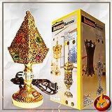 YASMEEN Gold Electric Incense Bakhor Bakhoor Burner Pyramid Shape