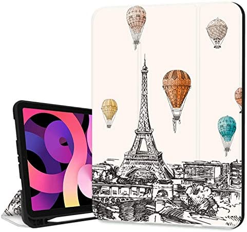 Hepix iPad 10 9 Case iPad Air 4th Generation Case Paris Drawing with Pencil Holder 2020 Sketch product image