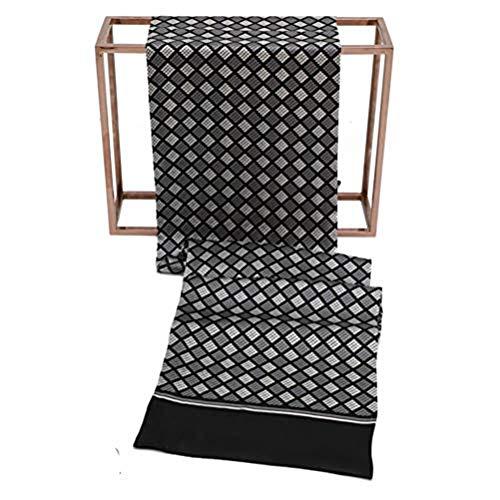Seidenschal, Herrenschal Seidentuch Krawatte Schal zum Binden Herrentuch Paisley Muster 100% reine Seide Alternative zur Krawatte Geeignet für Festliche Veranstaltungen