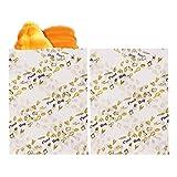 QAQGEAR 100 PCS Bolsas de papel de cera húmeda de 4.7 * 6.2 PULGADAS, Papel de envoltura de alimentos semi translúcido resistente a la grasa de grado alimenticio