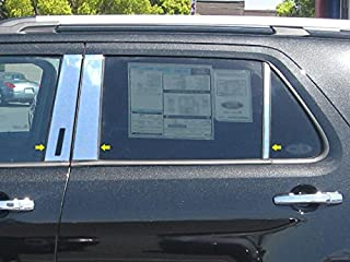 QAA fits 2011-2019 Ford Explorer (6 Piece Stainless Pillar Post Trim, Includes keyless Entry Touch pad) PP51331