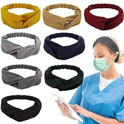 8 Pack Headbands for Women Button Headband for 01042021054417
