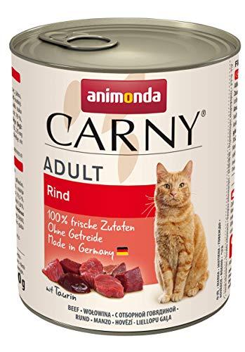 animonda Carny Adult Katzenfutter, Nassfutter für ausgewachsene Katzen, Rind pur, 6 x 800 g