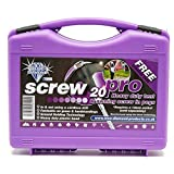 Blue Diamond Screw Tent Pegs - 20 pack, Purple, One Size