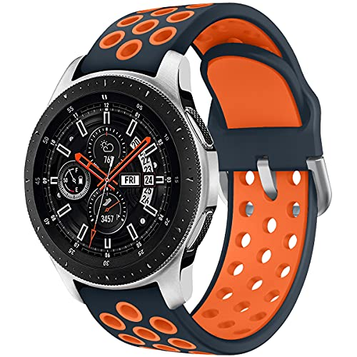 Syxinn Kompatibel mit 22mm Armband Galaxy Watch 46mm/Watch 3 45mm/Gear S3 Frontier/Classic Armband Silikon Uhrenarmband Sportarmband für Moto 360 2nd Gen 46mm/Huawei Watch GT/GT 2 46mm/Ticwatch Pro