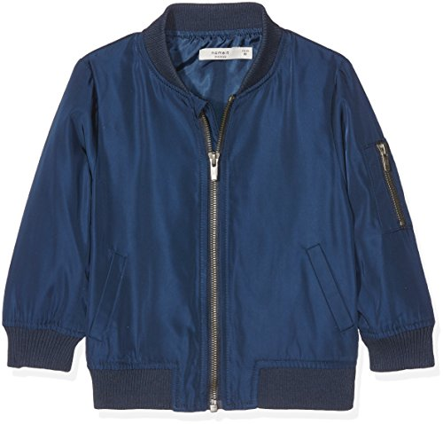 NAME IT Nitmarten Bomber Jacket MZ Ger Chaqueta, Azul (Dress Blues Dress Blues), 92 para Niños