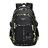 Abshoo Cool Boys School Backpacks For Middle School Student Backpack Elementary Bookbag (Black Yellow)