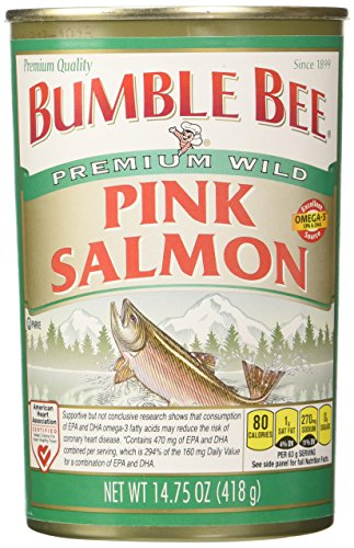 Bumble Bee Salmon Pink Canned, 14.75-Ounce Cans (Pack...
