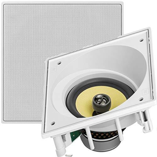 Caixa de som embutida JBL CI6SA Quadrada Angulada Branca - 120W