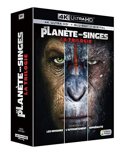 Coffret trilogie la planète des singes : les origines ; l'affrontement ; suprématie 4k ultra hd [Blu-ray] [FR Import]