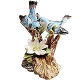 LXHJZ Estatuas y Figuras románticas pájaros para Interior, Adorno Figuras urracas cerámica, decoración Oficina en el hogar para su Estilo Familiar Elegante