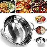 SJJL Hot Pot Easy Clean Dining Cookware Cooker Gas Stove Stainless Steel Dual Site Induction Cooking...
