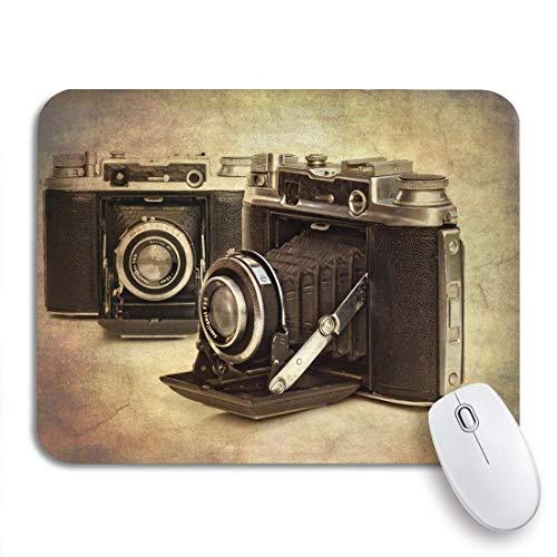 Gaming mouse pad alte zusammenfassung von vintage-kameras, Um antiken look rutschfesten gummi backing computer mousepad für notebooks mausmatten zu geben