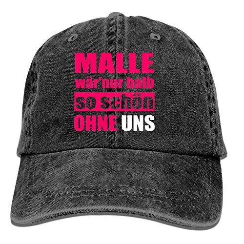 Onled Black Baseball Cap Malle Mallorca Lustiger Gruppen Spruch Trucker Hut gewaschene Baumwolle Vintage Verstellbar Dad Hat