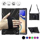 Galaxy Tab S4 10.5 Case, BRAECN [Shoulder strap] [Hand