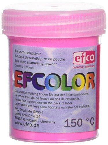 Efcolor einbrennlackierung Puder, Kunstharz, Neon hell rosa, 25ml